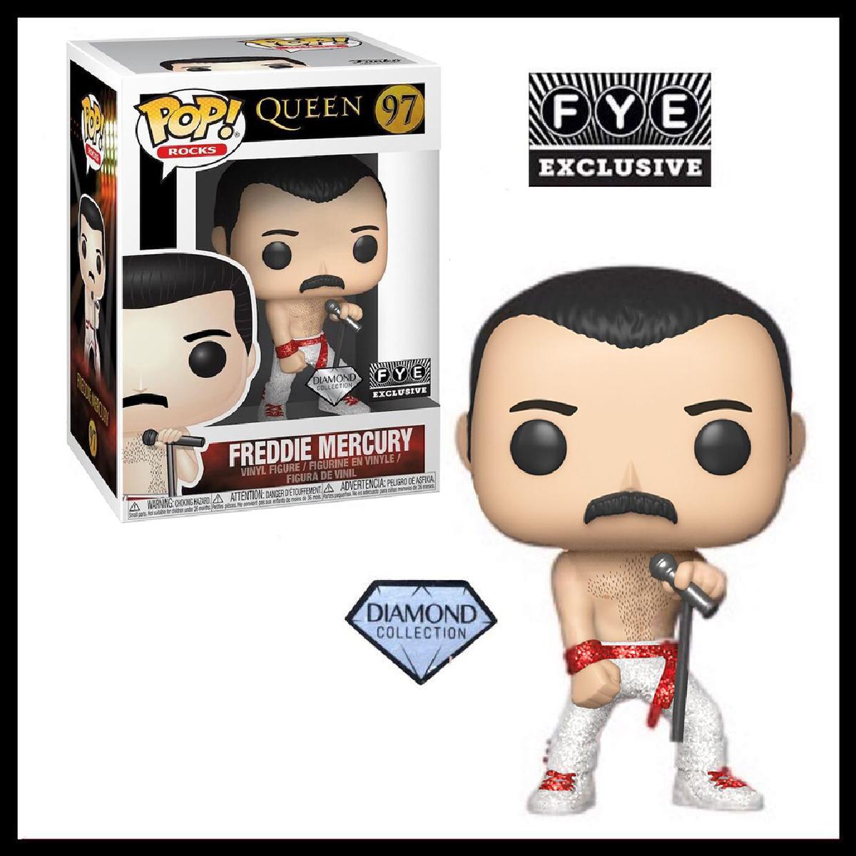Funko Pop Rocks Queen Freddie Mercury Diamond Glitter FYE STICKER IN STOCK