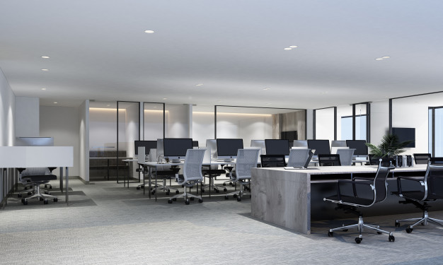 1e585c8f working area modern office with carpet floor meeting room interior 3d rendering 156429 176