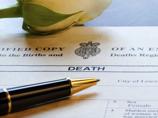 Registering a death